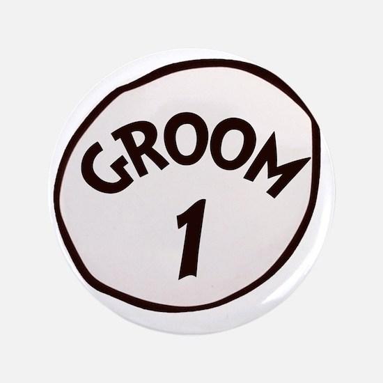 "Groom 1 3.5"" Button"