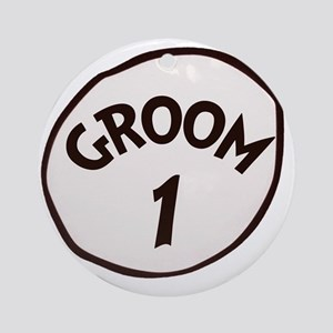 Groom 1 Round Ornament