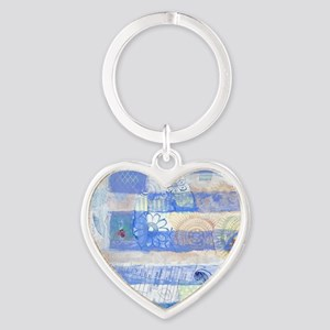 Greek Flag Heart Keychain