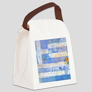 Greek Flag Canvas Lunch Bag