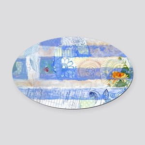 Greek Flag Oval Car Magnet