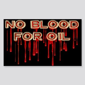 No Blood for Oil Rectangle Sticker