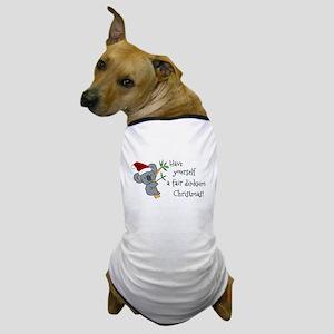Australian Christmas - Koala Santa Dog T-Shirt