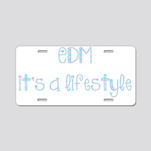 EDM Aluminum License Plate