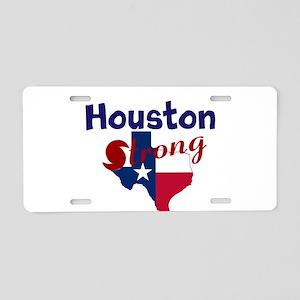 Houston Strong Hurrican Aluminum License Plate
