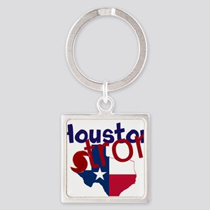 Houston Strong Hurrican Square Keychain