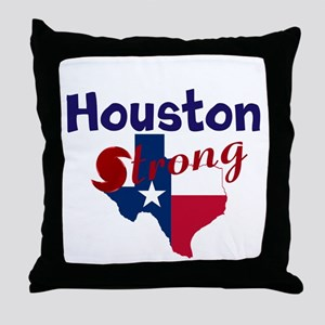 Houston Strong Hurrican Throw Pillow