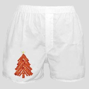 Bacon Christmas Tree Boxer Shorts