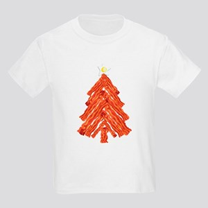 Bacon Christmas Tree Kids Light T-Shirt