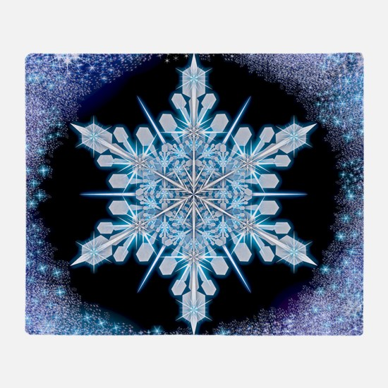 August Snowflake - square Throw Blanket