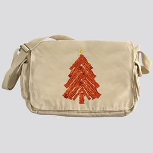 Bacon Christmas Tree Messenger Bag