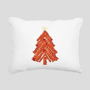 Bacon Christmas Tree Rectangular Canvas Pillow