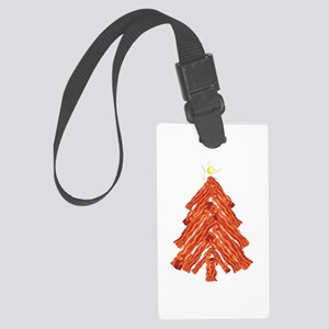Bacon Christmas Tree Large Luggage Tag