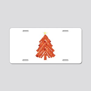 Bacon Christmas Tree Aluminum License Plate