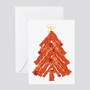 Bacon Christmas Tree Greeting Card