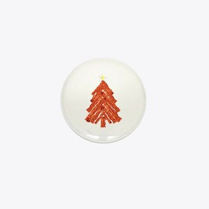 Bacon Christmas Tree Mini Button