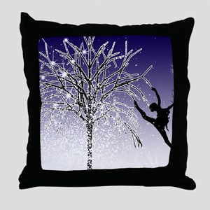 dancers star christmas tree indigo co Throw Pillow