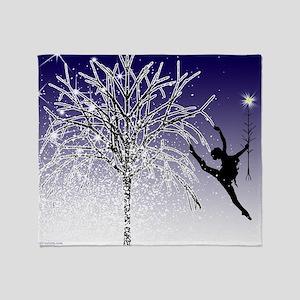 dancers star christmas tree indigo c Throw Blanket