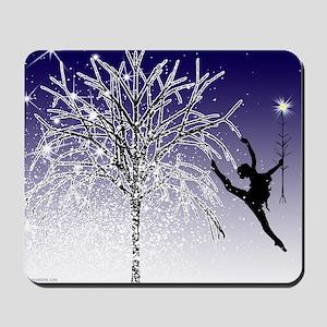 dancers star christmas tree indigo copy Mousepad