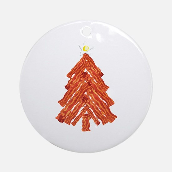 Bacon Christmas Tree Ornament (Round)