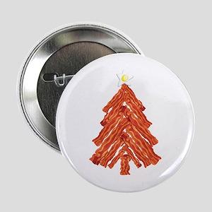"""Bacon Christmas Tree 2.25"""" Button"""