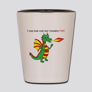 Fire breathing dragon Shot Glass