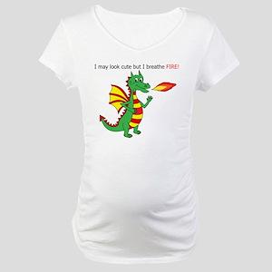 Fire breathing dragon Maternity T-Shirt