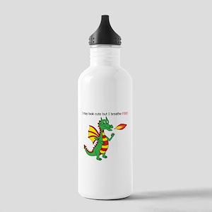 Fire breathing dragon Sports Water Bottle