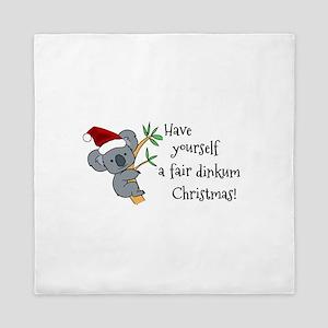 Australian Christmas - Koala Santa Queen Duvet