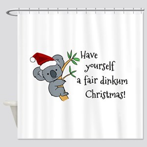 Australian Christmas - Koala Santa Shower Curtain