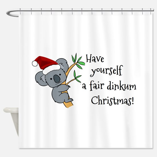 Australian Christmas - Koala Santa Shower Curtain