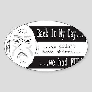 BIMD...Fur Sticker (Oval)