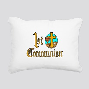 First Holy Communion Rectangular Canvas Pillow
