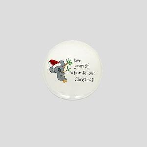 Australian Christmas - Koala Santa Mini Button