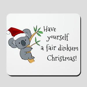 Australian Christmas - Koala Santa Mousepad