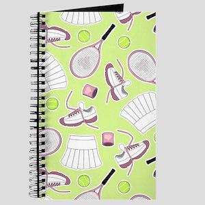 Tennis Love Pattern Green Journal