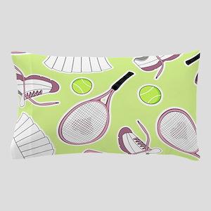 Tennis Love Pattern Green Pillow Case
