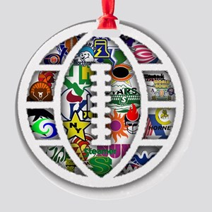 Logos of the World Football League  Round Ornament