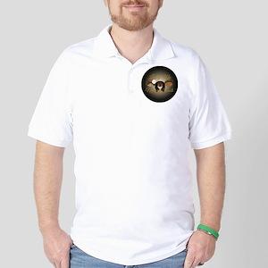 LMNR Black Button Golf Shirt