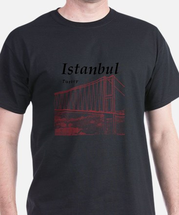 Istanbul_10x10_BosphorusBridge_v2_Red T-Shirt