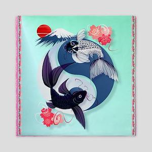 Pillow Yin and Yang Koi Queen Duvet