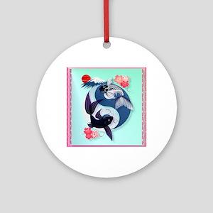 Pillow Yin and Yang Koi Round Ornament