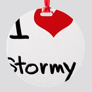 I love Stormy Round Ornament