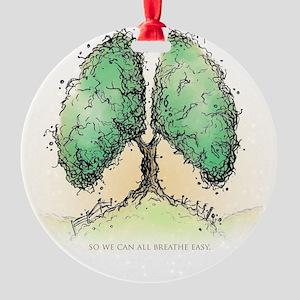 Living Breath  Round Ornament
