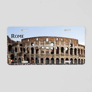 Rome_4x9.25_FlatCard_Coloss Aluminum License Plate