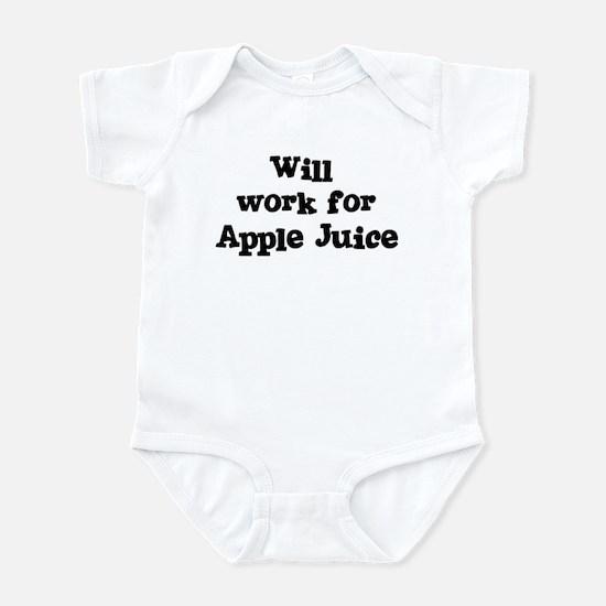 Will work for Apple Juice Infant Bodysuit