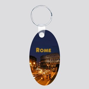 Rome_2.5x3.5_Ornament(Oval) Aluminum Oval Keychain