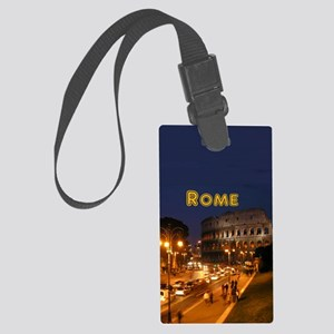 Rome_2.5x3.5_Ornament(Oval)_Colo Large Luggage Tag