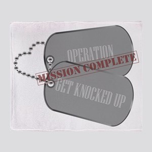 Dog Tag - Operation Get Knocked Up - Throw Blanket