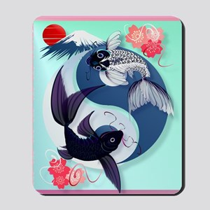 Yin and Yang Koi Mousepad